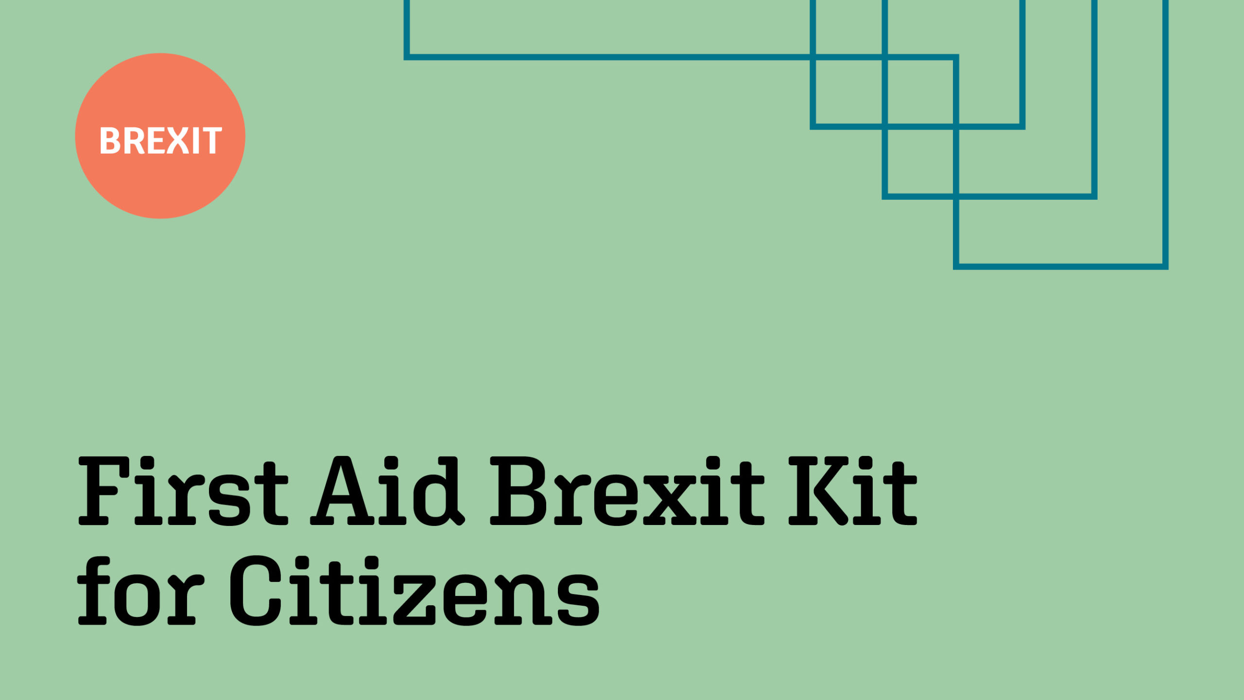 First Aid Brexit Kit for Citizens