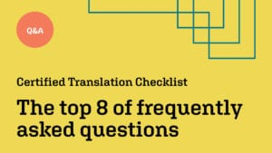 Certified Translation Checklist